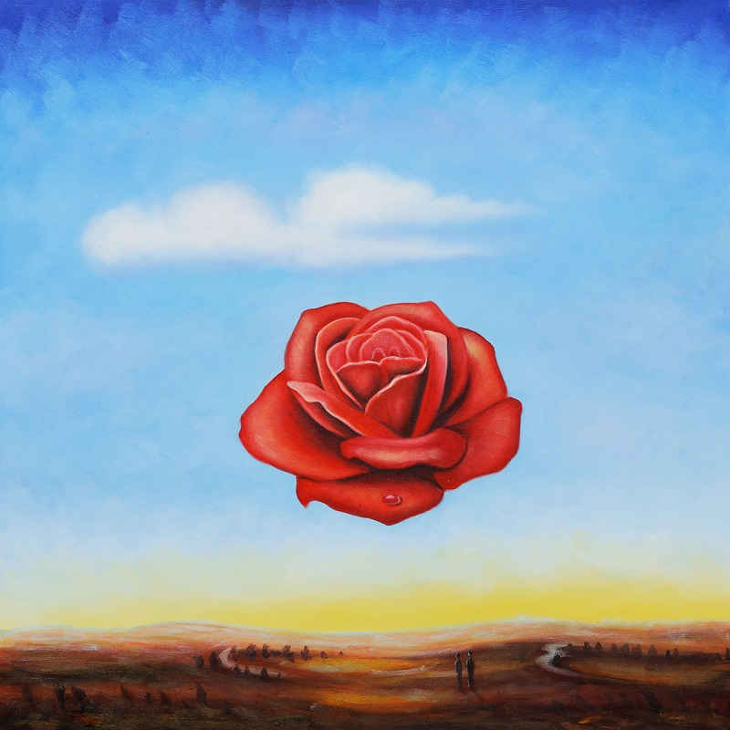 The Meditative Rose by Salvador Dali OSA388